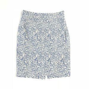 The Limited Print Linen Blend Pencil Skirt, Career